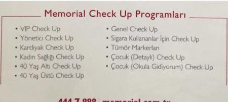 Memorial check up